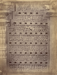 Richly-carved, perforated stone window, Narsapur 10032620
